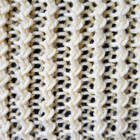 Rickrack Rib Stitch – In the round