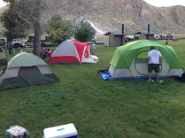 some of the tents