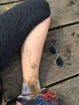 muddy, despite the drought