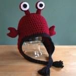 Hermit crab hat crochet pattern by Liz @PurlsAndPixels