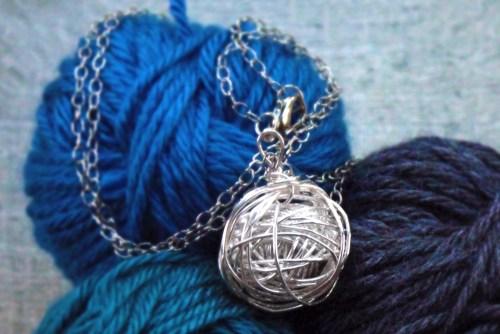 Silver Yarn Necklace