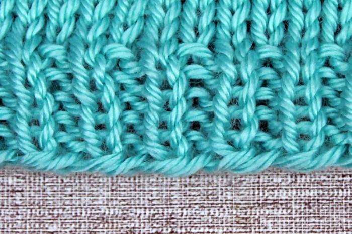 Learn to Knit Step 9: Following knitting patterns, knit-purl rib