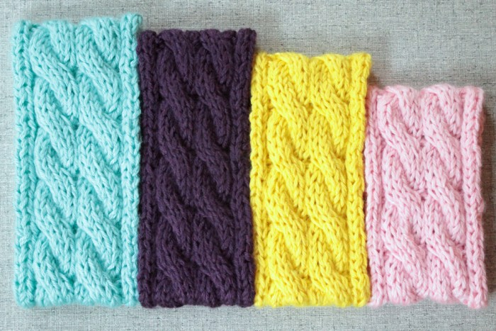 Cable knit ear warmer knitting pattern by PurlsAndPixles