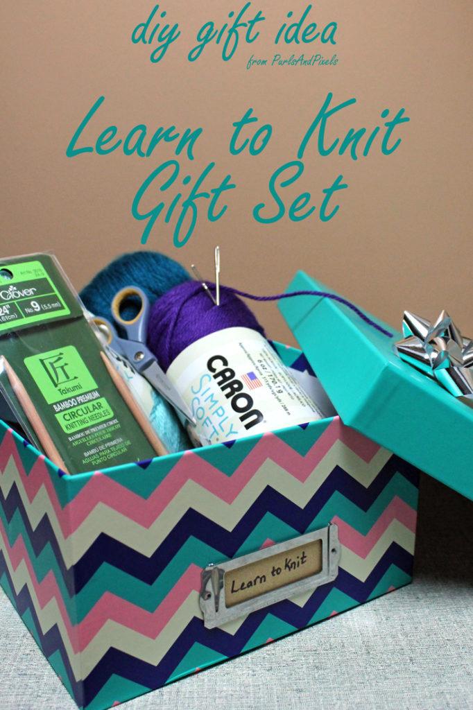 Diy learn to knit gift set for beginner knitters purlsandpixels learn to knit gift set diy gift idea from liz purlsandpixels solutioingenieria Gallery