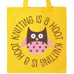 knitting is a hoot tote