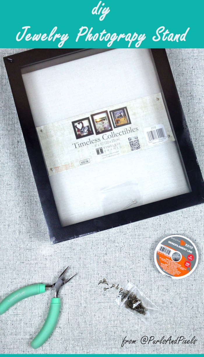 DIY earring photography stand instructions from PurlsAndPixels