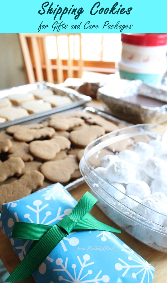 How to ship cookies for gifts and care packages, tutorial from Liz @PurlsAndPixels