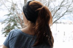 Cable Knit Ear Warmer Headband, by Liz @PurlsAndPixels