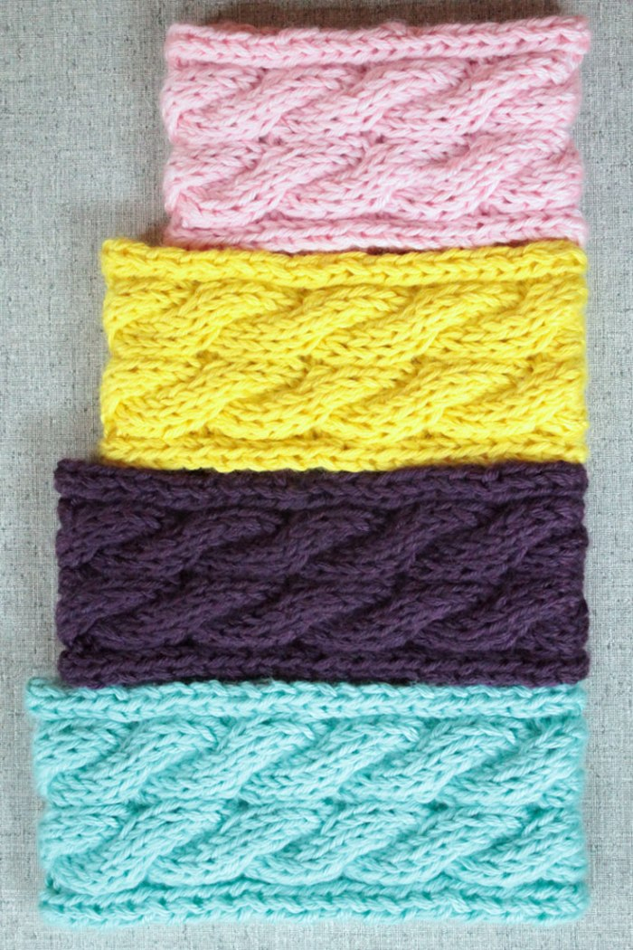 Cable Ear Warmer Headband Knitting Pattern Purlsandpixels