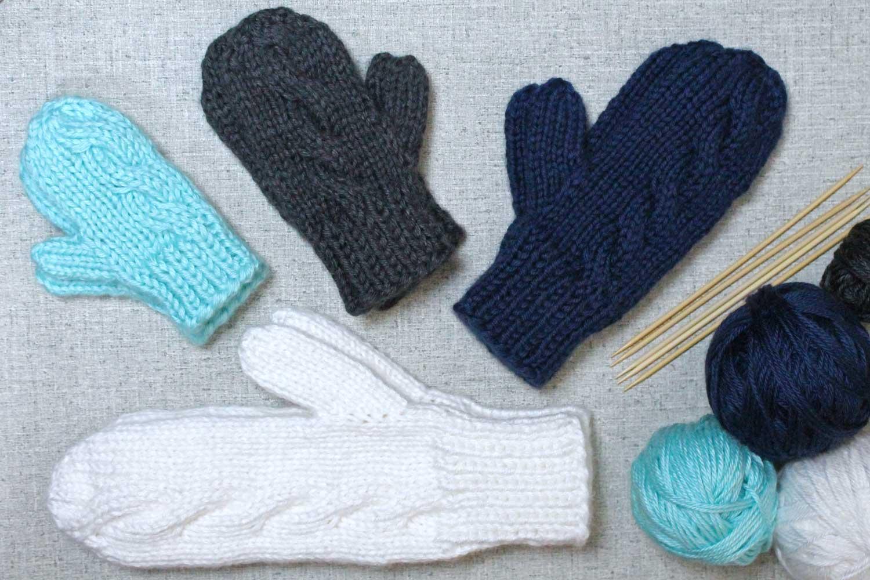 Subtle Cable Knit Mittens, designed by Liz Chandler @PurlsAndPixels