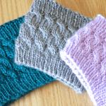 Twisty cable knit headband knitting pattern by Liz @PurlsAndPixels