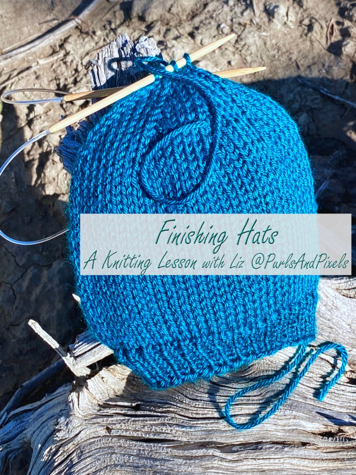 Learn to finish knit hats with loose ends in this knitting tutorial from Liz Chandler @PurlsAndPixels.
