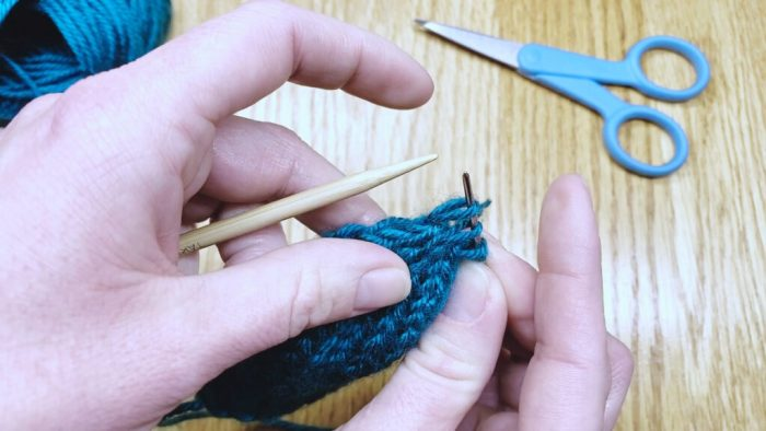 Step 6: Draw yarn through remaining stitches to bind off knits in the round - a lesson with Liz Chandler @PurlsAndPixels.