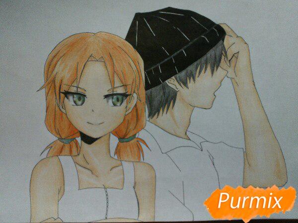 kak-narisovat-anime-devushku-i-parnya-karandashmi-pojetapno-13 Как нарисовать пару из Вокалоидов карандашом поэтапно