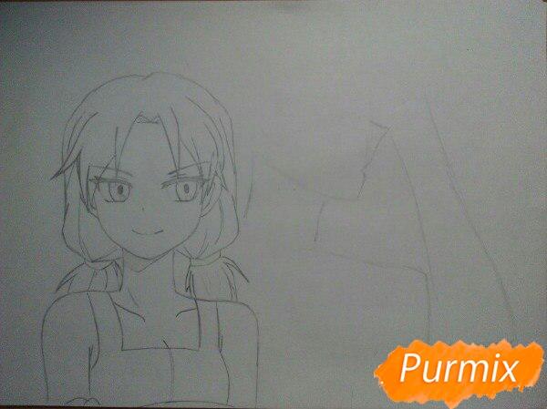 kak-narisovat-anime-devushku-i-parnya-karandashmi-pojetapno-5 Как нарисовать пару из Вокалоидов карандашом поэтапно
