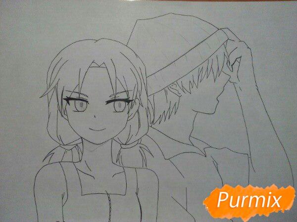 kak-narisovat-anime-devushku-i-parnya-karandashmi-pojetapno-8 Как нарисовать пару из Вокалоидов карандашом поэтапно