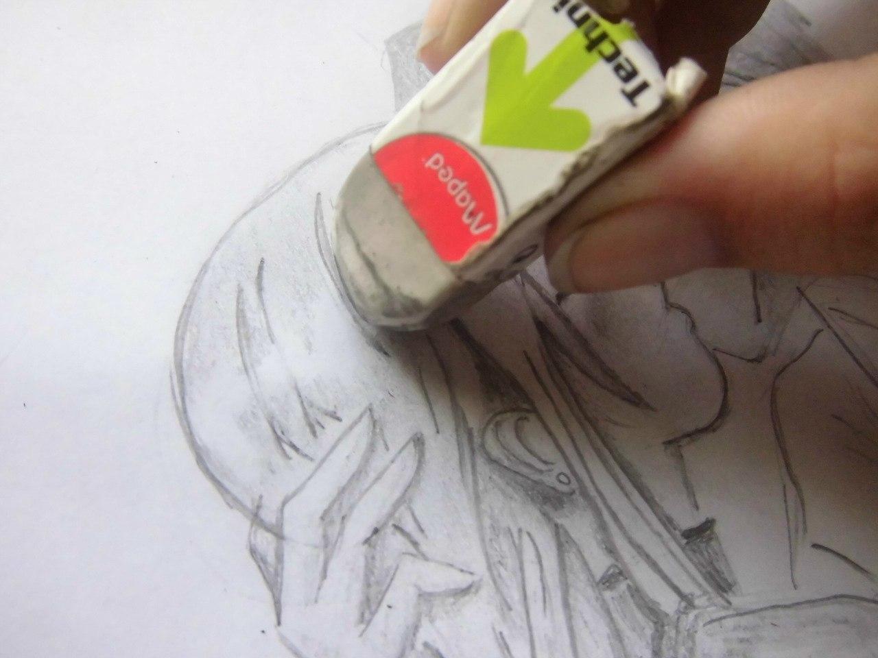 urok_risovanie_karandashom_celuyushhiesya_anime_pary-step-5 Как нарисовать пару из Вокалоидов карандашом поэтапно