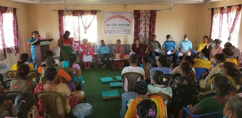 ४२ औँ सामाजिक दिवसको अवसरमा एकल महिला समुह उदयपुरले आफ्नो पहिलो बार्षिक साधारण सभा गर्यो
