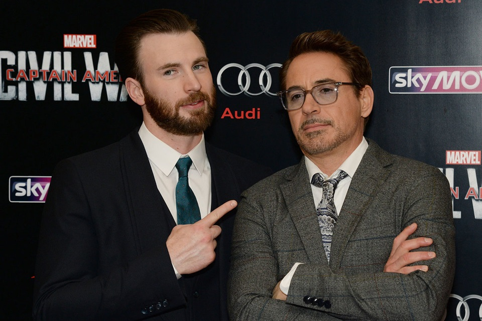 Chris Evans e Robert Downey Jr