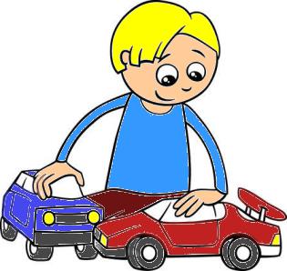 Un cuento sobre la adolescencia - niño jugando con autos de juguete