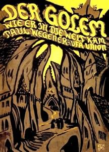 """Afiche de la película """"Der Golem, wie er in die Welt kam""""."""