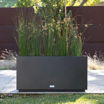 serie metallic jardiniere a boite longue moyenne 32 x 10 x 16