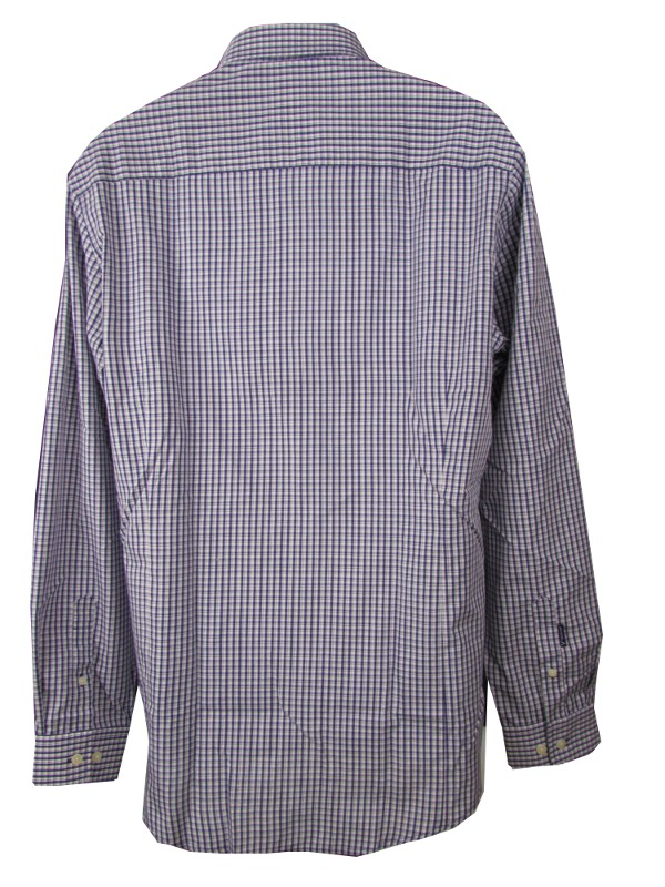 Antigua LSU Tigers Mens Associate Long Sleeve Button Up Shirt Purple And White PURPLE AND
