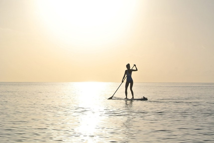 Paddleboarding is hip