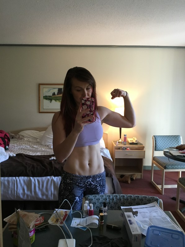 So lean! This was the day I had abs...