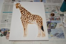 Once I'd stopped thinking that it looked rubbish and that actually it was coming along fine, I was finally able to start adding more detail to make it come alive and look more like an actual giraffe. Well my own special, unique version of one anyway.
