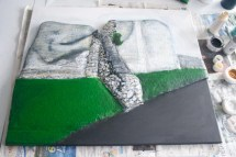"More painting to the the ""Pontefract Castle"" 3D Acrylic Painting by Purple Faye"