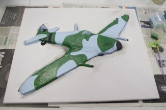 "More markings painted on the ""Spitfire MK VB"" 3D Acrylic Painting"