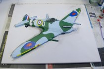 "Painting the last few details on the the ""Spitfire MK VB"" 3D Acrylic Painting"
