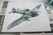 "Adding tone to the ""Spitfire MK VB"" 3D Acrylic Painting"