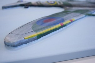 "Another close up of the finished ""Spitfire MK VB"" 3D Acrylic Painting by Purple Faye showing, how it's 3D"