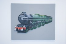 """The Flying Scotman No. 4472"" 3D Acrylic Painting."