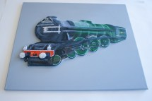 "Finished ""The Flying Scotman No. 4472"" 3D Acrylic Painting."