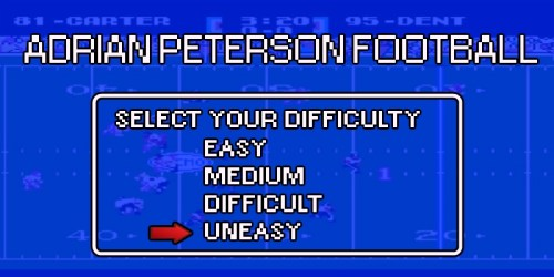 Adrian Peterson Football Game