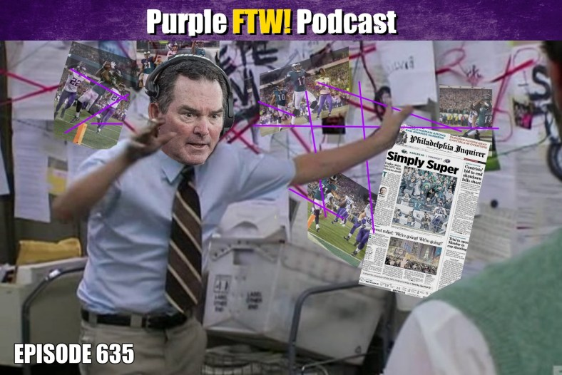 Purple FTW! Podcast: Vikings-Eagles Preview feat. Darren Wolfson + Jordan Reid (ep. 635)
