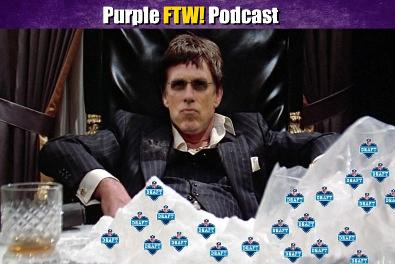 Purple FTW: Garrett Bradbury + Recapping the 1st Round of the NFL Draft (ep. 747)