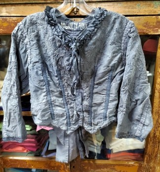 Magnolia Pearl Cotton Silk Floral Embroidered Inna Jacket 341