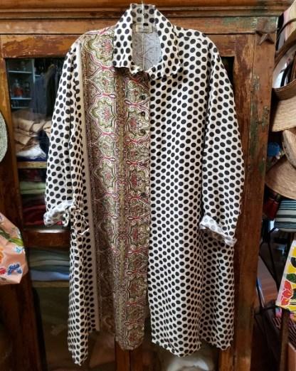 Krista Larson Long Black Dotted Weekender Shirt 3835