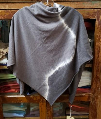 Raquel Allegra Square Scarf Tie Dyed in Night Grey 0257