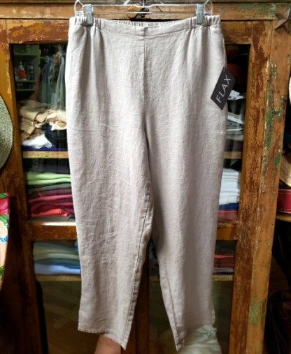 FLAX Pocketed Ankle Pant - Latte 1911