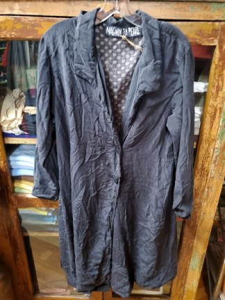 Magnolia Pearl Midnight Silk Ondra Coat Jacket 402