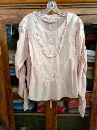 Magnolia Pearl Into the Groove Blouse Top 819 in Lilac
