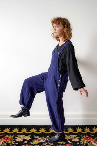 Metta Melbourne Land Girl Overalls in Indigo
