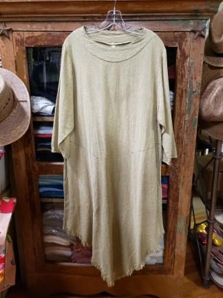 Cynthia Ashby Chartreuse Mixed Pointed Hem Dress