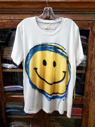 Raquel Allegra New Boyfriend Tee in Dirty White Smile