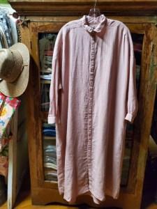 Metta Melbourne Ophelia Fine Shirt Dress in Dusty Pink